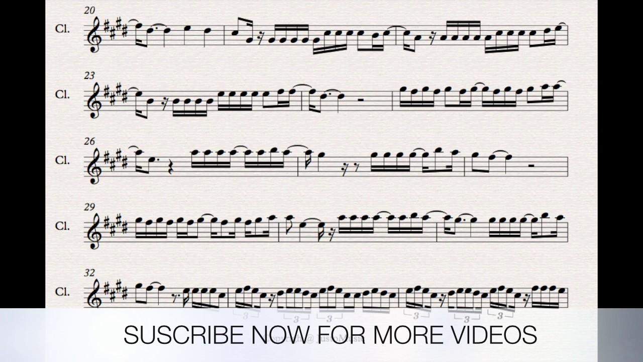 despacito trumpet sheet music