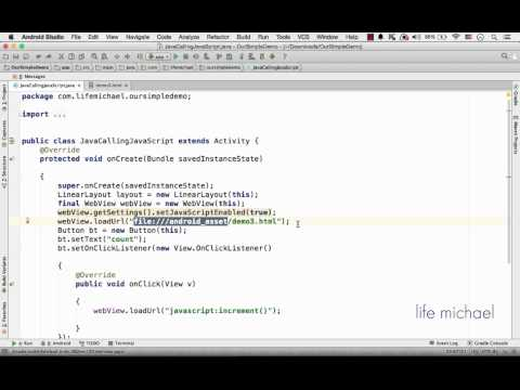 Code in Java Calling Code in JavaScript in Android Application