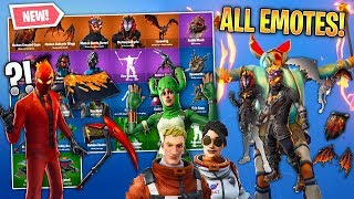 *ALL* Fortnite v8.20 Leaked Skins, Emotes & More! (Lava Legends, Fire Spinner, Cactus Skin, Wraps)