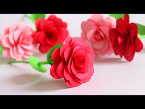 DIY Paper Flower Rose   Paper Roses Tutorial Step by Step   Little Crafties