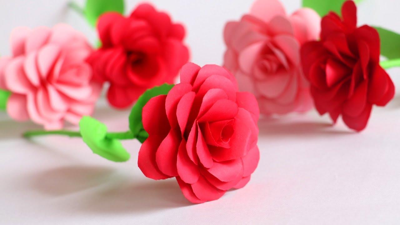 Diy Paper Flower Rose Paper Roses Tutorial Step By Step Little