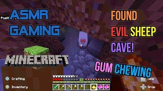 ASMR Gaming | Minecraft Found Evil Sheep Cave! Relaxing Gum Chewing ????????Controller Sounds????????