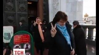 Pussy Riot арестовали в храме Христа Спасителя(UA -