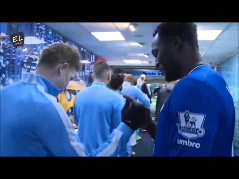 Kevin De Bruyne & Romelu Lukaku Awesome Handshake Manchester City vs Everton