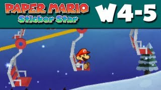 Paper Mario Sticker Star - W4-5 - Whiteout Valley (Nintendo 3DS Gameplay Walkthrough)