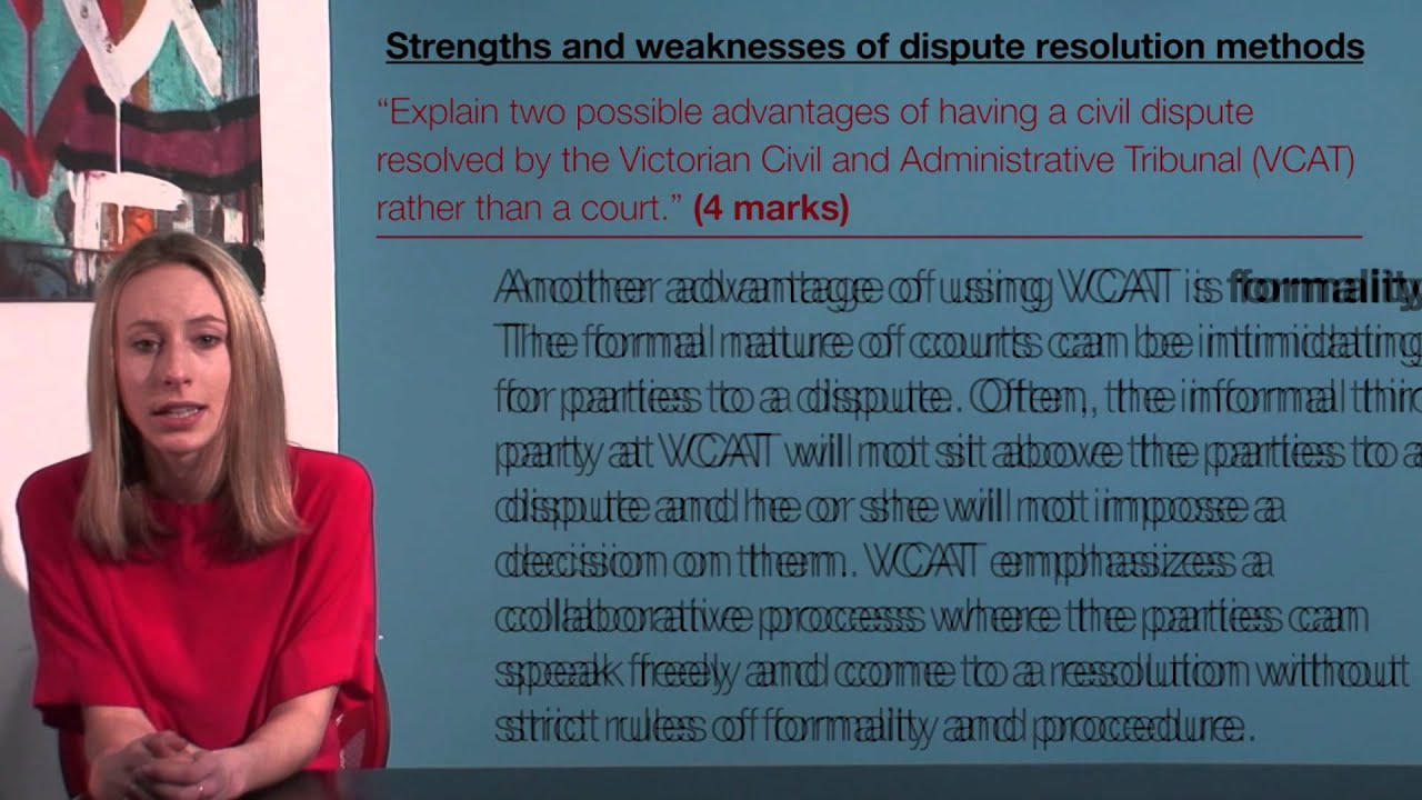 vce legal studies strengths and weaknesses of dispute resolution vce legal studies strengths and weaknesses of dispute resolution methods