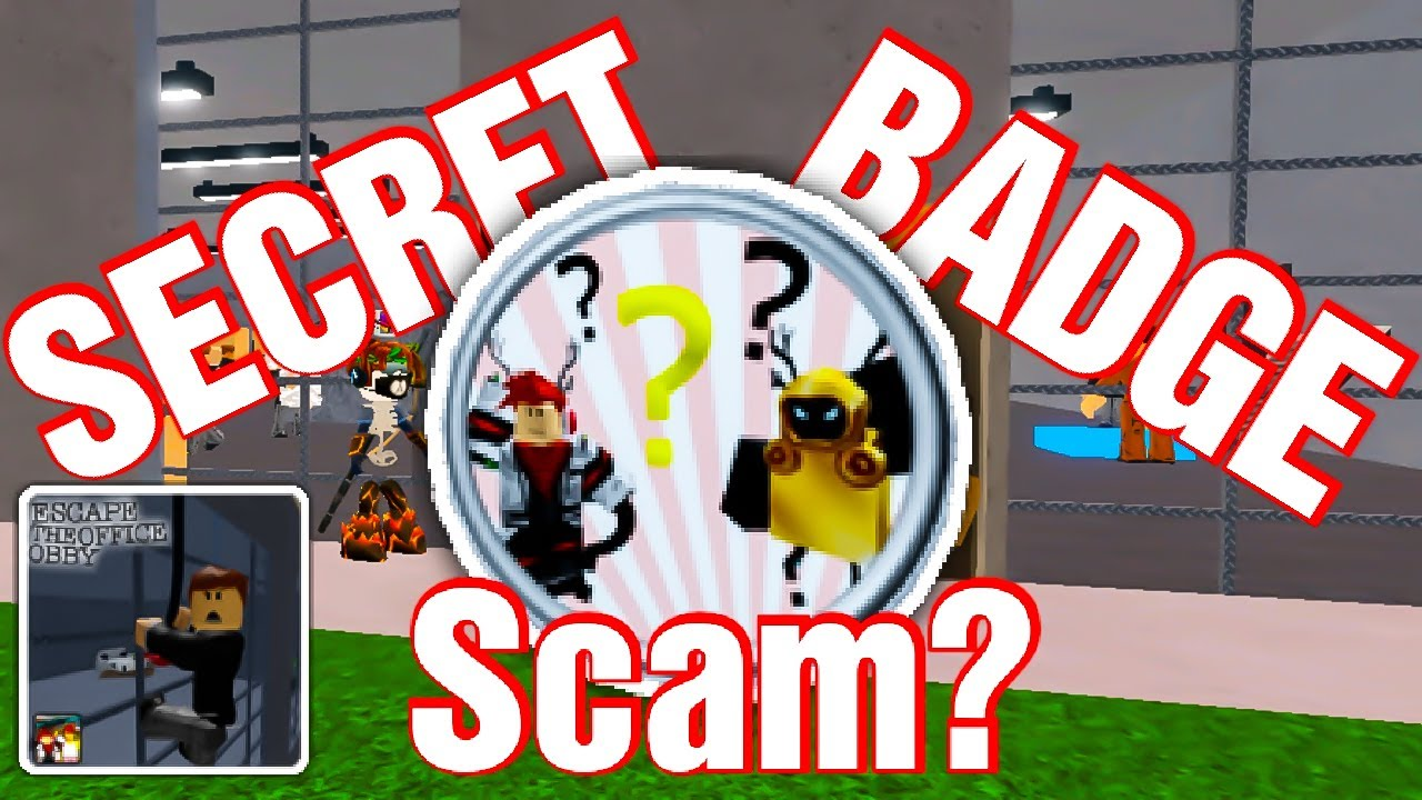Troll Secret Badge In Escape The Office Obby Roblox Youtube