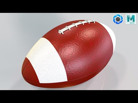 Thanksgiving special : Modeling a Football in Maya 2017