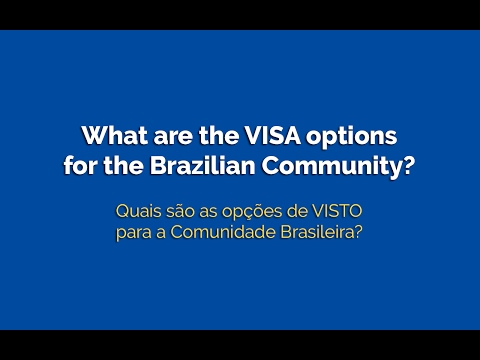 What are the visa options in Australia for the Brazilian Community?