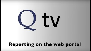 Reporting on the web portal