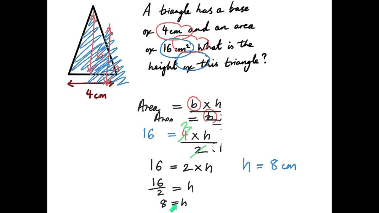 Area Of A Triangle Ks2 Maths