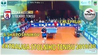Stepan Šapošnikov – Jakub Kleprlík Extraliga Stolniho Tenisu :)