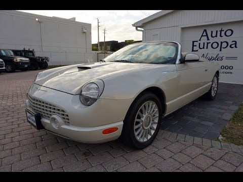 This 2005 Ford Thunderbird 50th Anniversary Convertible Is A Retro-modern Boulevard Cruiser