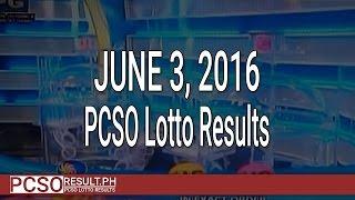 PCSO Lotto Results June 3, 2016 (6/58, 6/45, 4D, Swertres & EZ2)