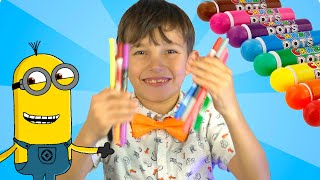 Learn Colors With Balloons | Stefan pretends to play with his Magic Pen @SteFanChico TV