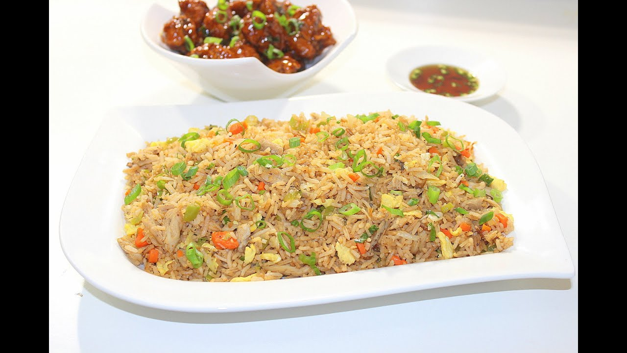 Indo Chinese Chicken Fried Rice - Restaurant style by ...
