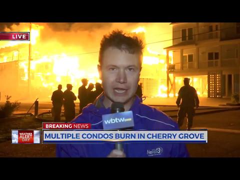 Cherry Grove Fire during Hurricane Matthew - Breaking News - Producer: Jillian