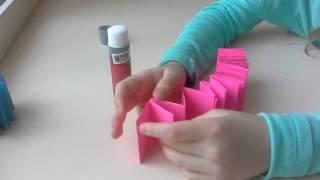 Как сделать книжку из цветной бумаги или картона своими руками.