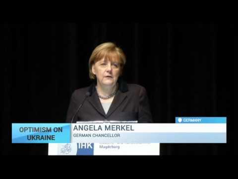 Oprimism on Ukraine:  Merkel confident of progress on conflict 'in next few months'