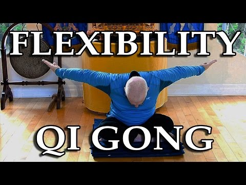 FLEXIBILITY Qi GONG to Improve HEALTH and ENERGY - EASY Exercises shown by (70 year old) LAMA LODRO