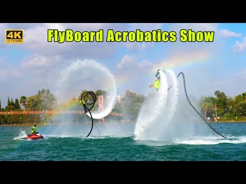 Amazing Flyboard Show Over Seyhan River
