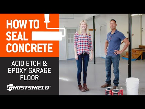 How To Seal Concrete: Acid-Etch and Epoxy Garage Floor