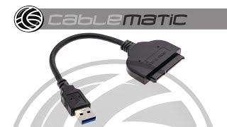 Cable SATA a USB 3.0 con datos y alimentación 10 cm -  distribuido por CABLEMATIC ®