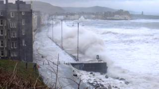 Huge Storm Waves Aberystwyth 3 January 2014 - Part 2