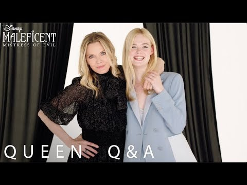 Disney S Maleficent Mistress Of Evil Queen Q A With Michelle Pfeiffer Elle Fanning