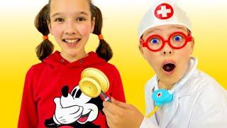 Doctor Checkup Song   Miss Emi Pretend Play Nursery Rhymes & Kids Songs