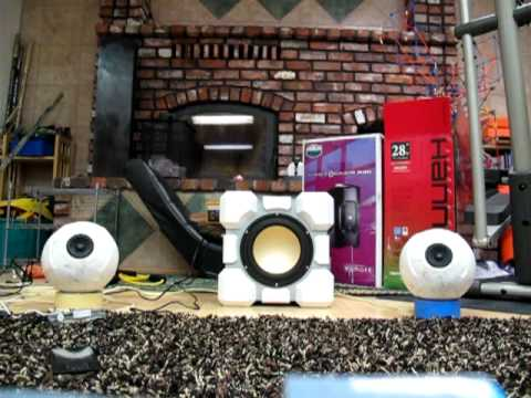 Still Alive: GlaDos Speakers and Companion Cube Subwoofer