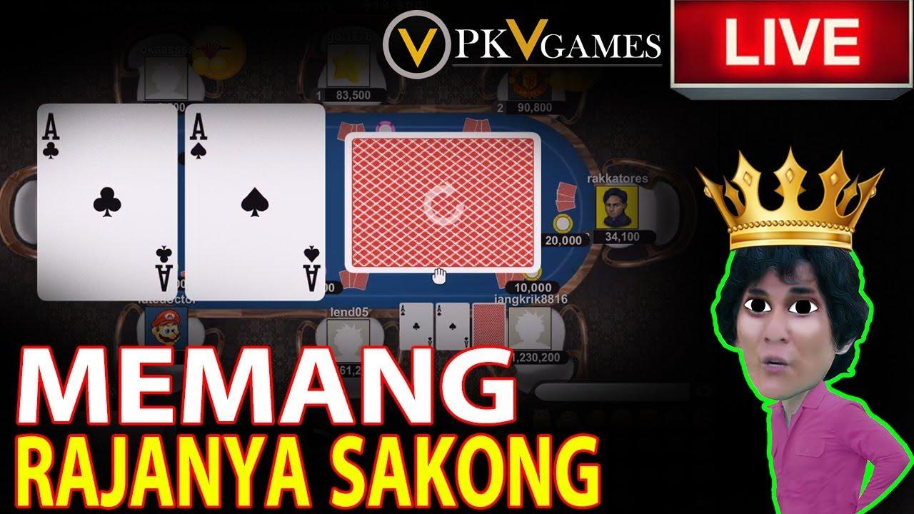 THE KING SAKONG !! Menang Bandar Sakong PKV Games Modal