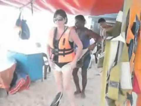 illegal beach traders at Batu Ferringhi Beach