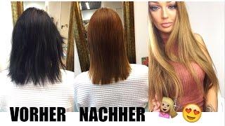 Haare aufhellen schwarze Haare natürlich