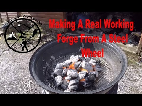 DIY Building A Working Forge Out Of A Steel Wheel