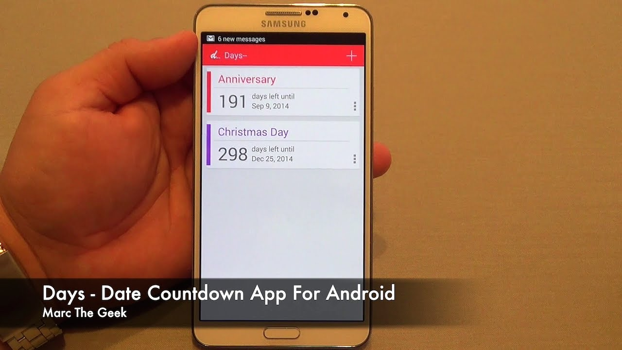 Days - Date Countdown App for Android - YouTube