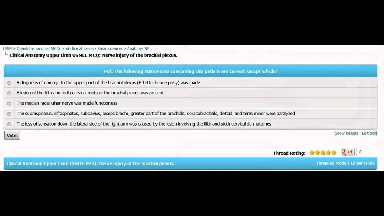Anatomy Upper Limb USMLE step one MCQs - YouTube
