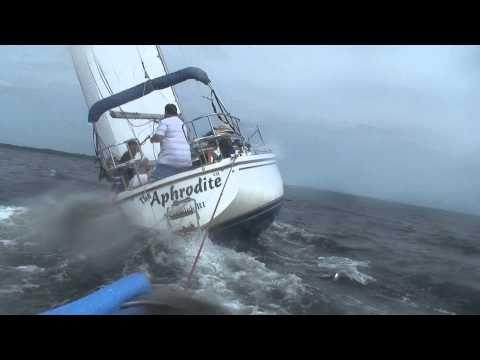 Catalina 30 Sailing Narragansett Bay RI Dingy