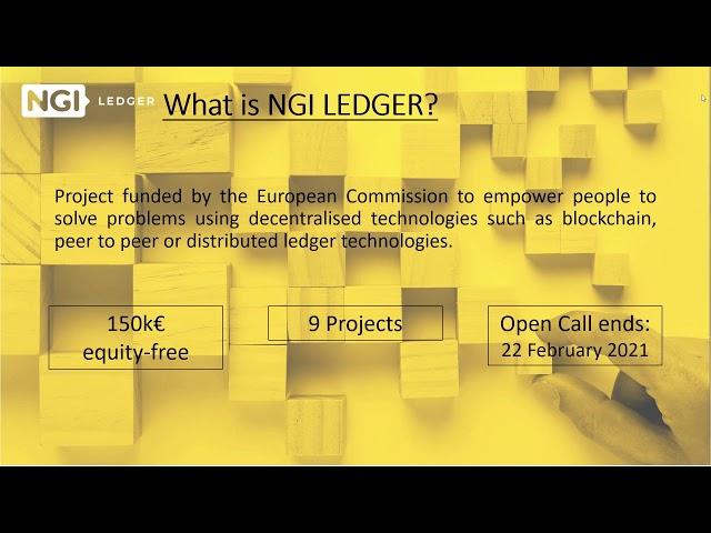 LEDGER 3rd Open Call - Webinar #3: Previous participants