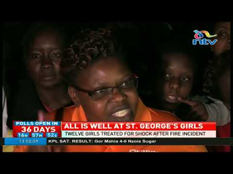 Twelve girls treated for shock after fire incident at St. George's