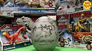 New Giant Jurassic World Surprise Egg For Kids / T-Rex Vs Indominus Rex / Velociraptor, Unboxing