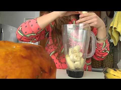 Smoothie de papaya y plátano - Sus beneficios -  Desayuno DDUV