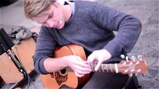 Acoustic Guitar player - Amazing Street Performers - Percussive guitarist Music performance