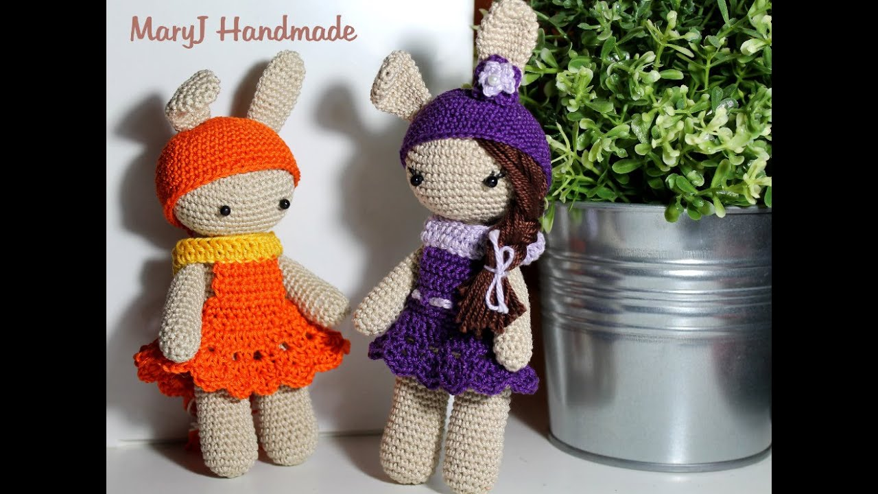 Amigurumi Free Pattern Italiano : Tutorial bambolina coniglietto amigurumi youtube
