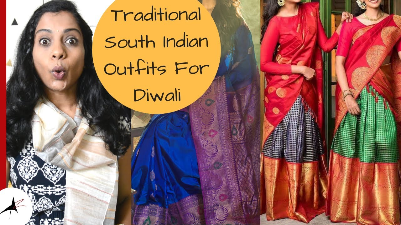 Outfit Ideas For Diwali 2019 | Pattu Pavadai, Pattu Langa Voni, Pattu Saree Designs