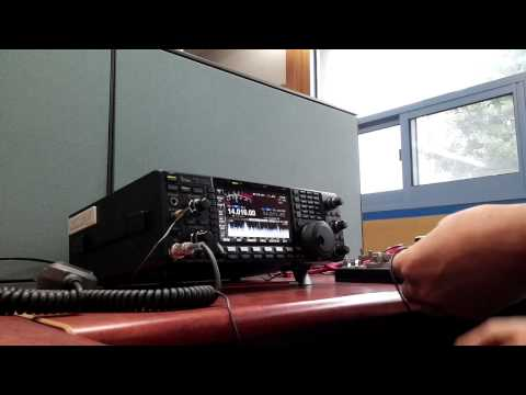 High Speed Telegraphy Transmission using straight key(KY-3A) & micro S/W
