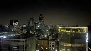 한국 서울 강남 밤 산책