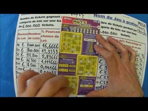 Gratter des tickets MEGA Mots Croisés. Combien de chance de gagner à ce jeu fdj ?