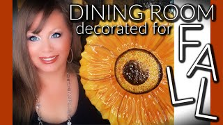 DINING ROOM DECORATED FOR FALL 🍁- DECORATE WITH ME!