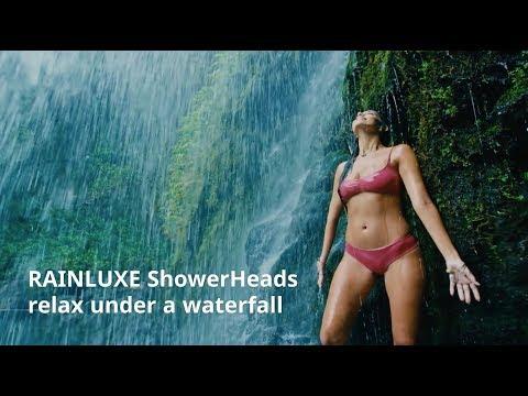 RAINLUXE ShowerHeads Relax under a waterfall